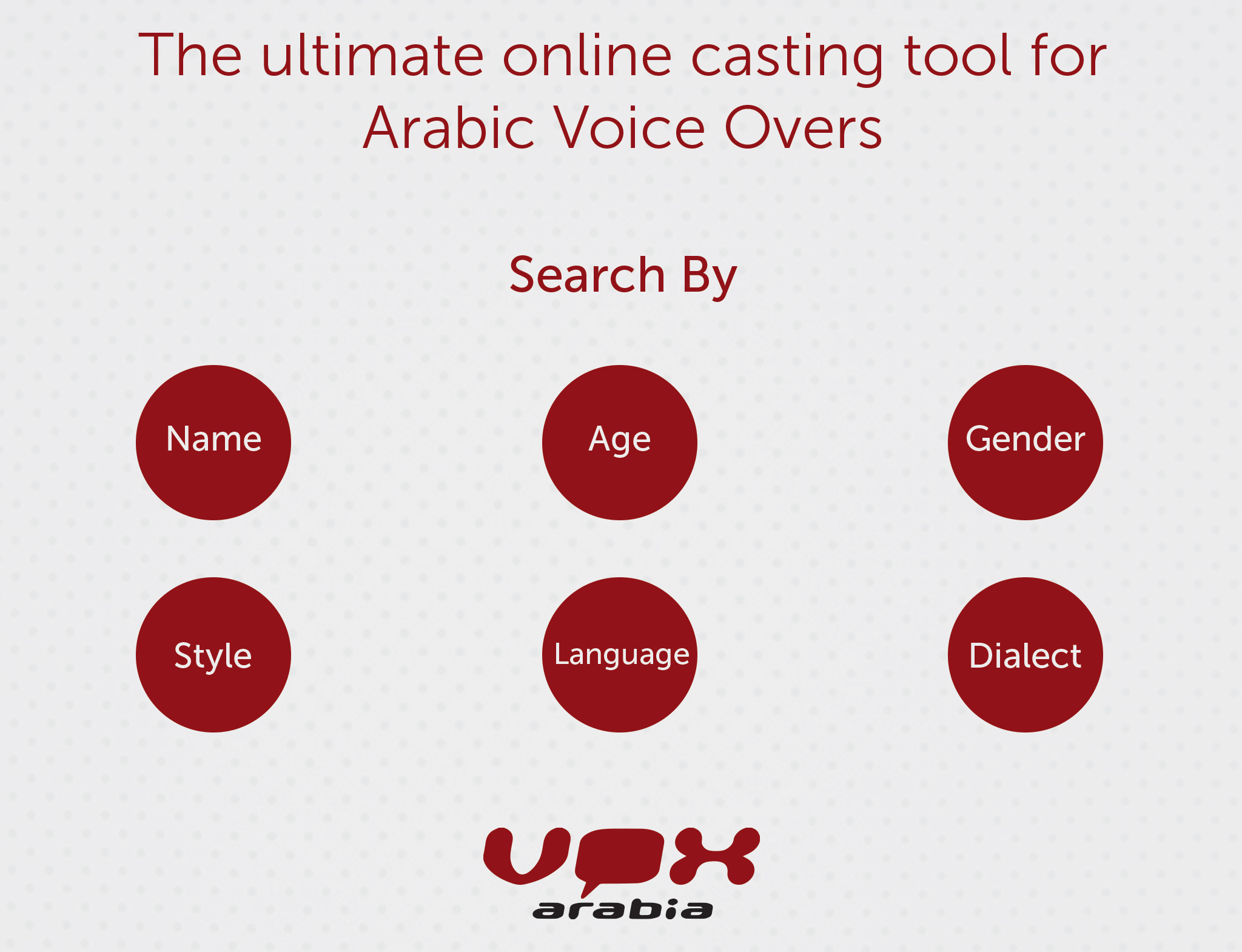 Casting Tool for Arabic Voice Overs | Vox Arabia
